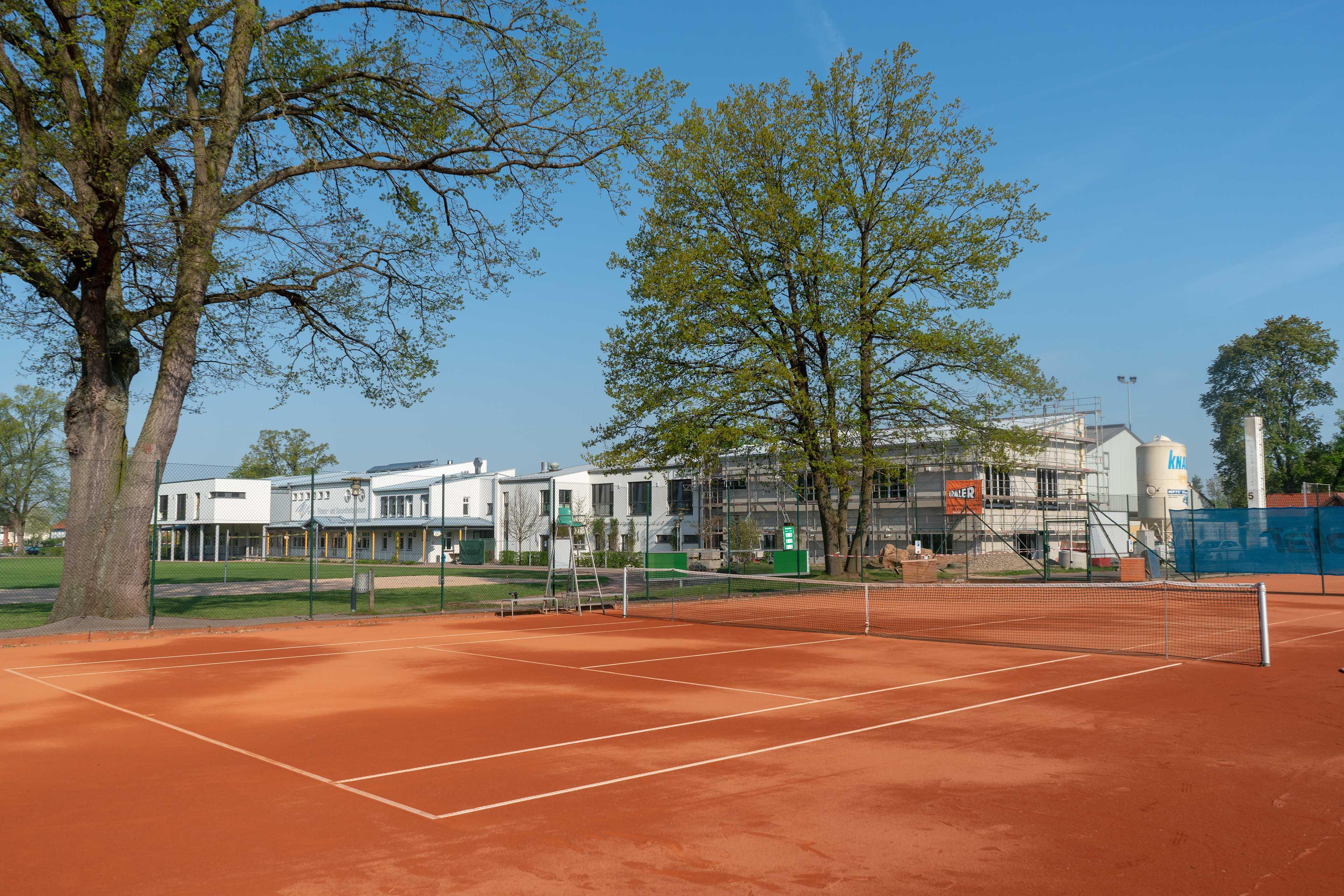 Die Tennisanlage des MTV Bamberg